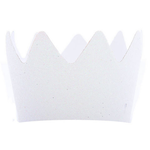 White Glitter Crowns