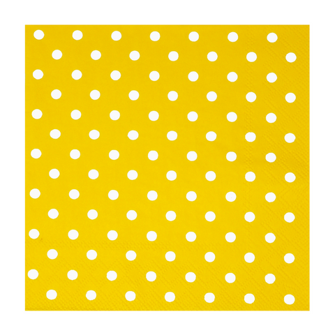 Yellow and White Mini Dots Small Napkins