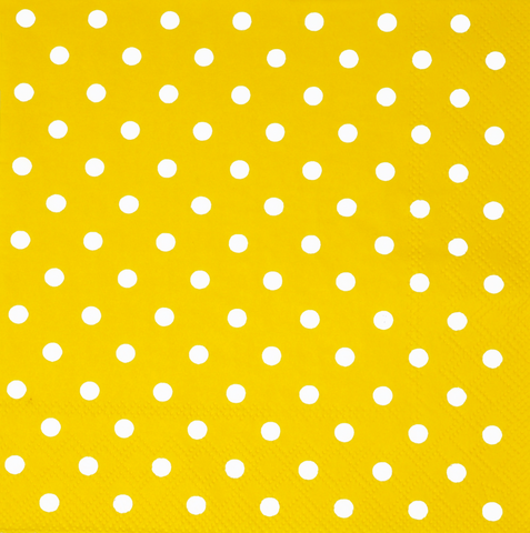 Yellow and White Mini Dots Large Napkins