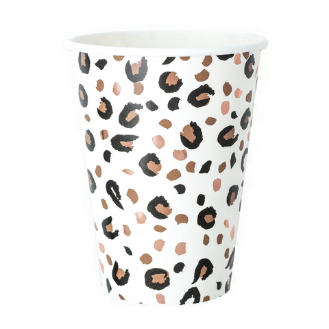 Rose Gold and Black Animal Print Cup