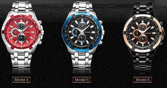 Stainless Steel Waterproof Watch