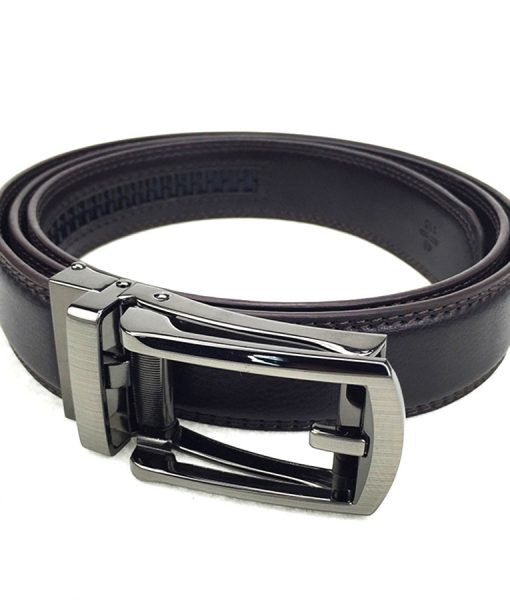 Micro-Adjustable Leather Belt