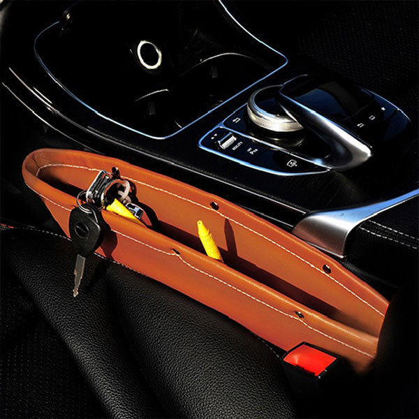 Leather Car Seat Side Pocket Catcher