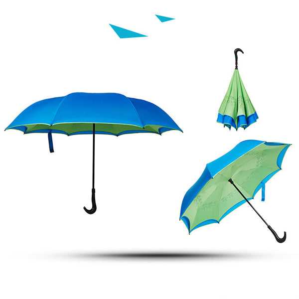 High Quality, Double Layered Innovative Upside Down Umbrella
