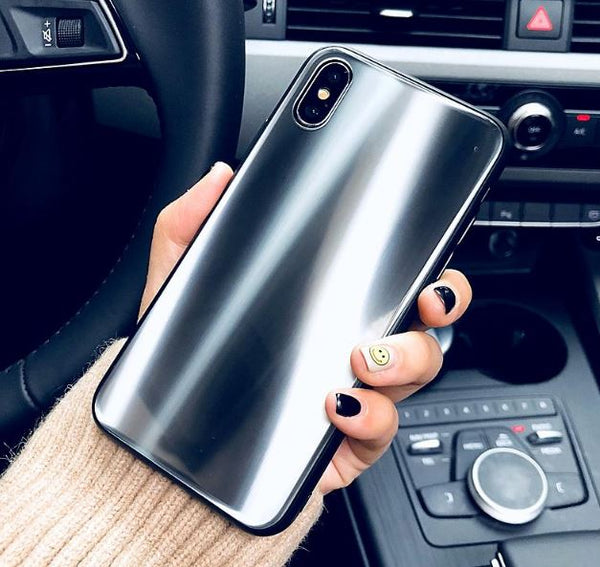 Laser Shine Glass Case for iPhone X