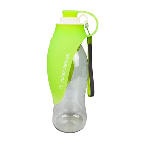 Portable Pet Water Bottle And Leaf Cap Bowl