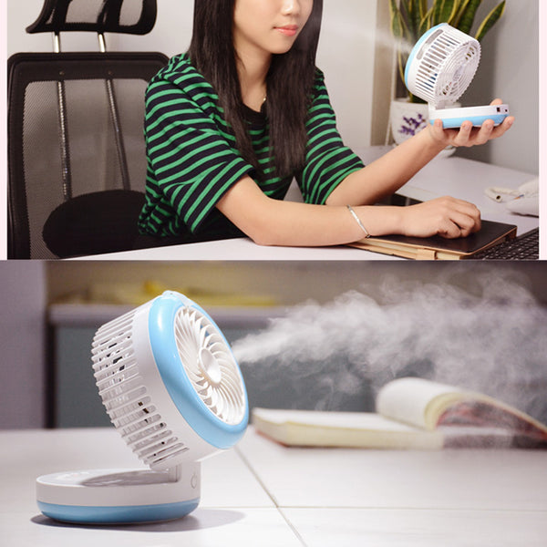 Portable Misting Desk Fan