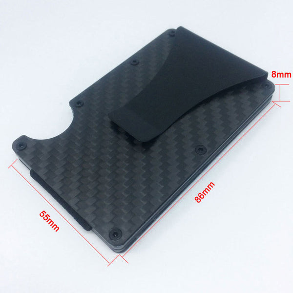 Carbon Fibre Anti RFID Theft Card Holder Wallet
