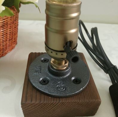 Vintage Thomas Edison Style Table Wood Lamp