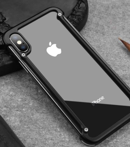 Airbag Metal Bumper Case For Iphone X