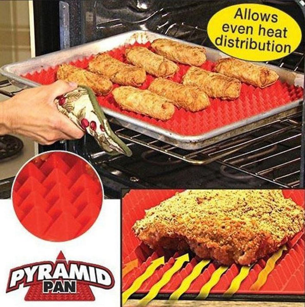 Fat Reducing Silicone Cooking Mat Pyramid Non-Stick Pan
