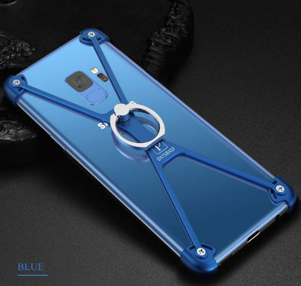 X Shape Metal Bumper Case With Ring Holder