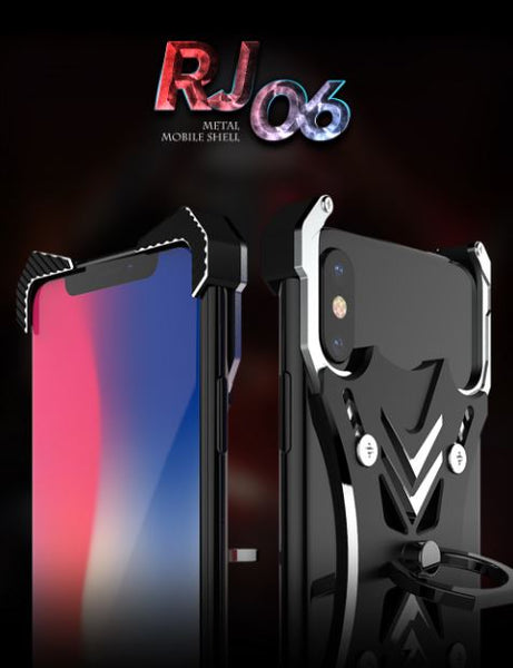 High-End Bumper All Metal iPhone case With Ring Holder