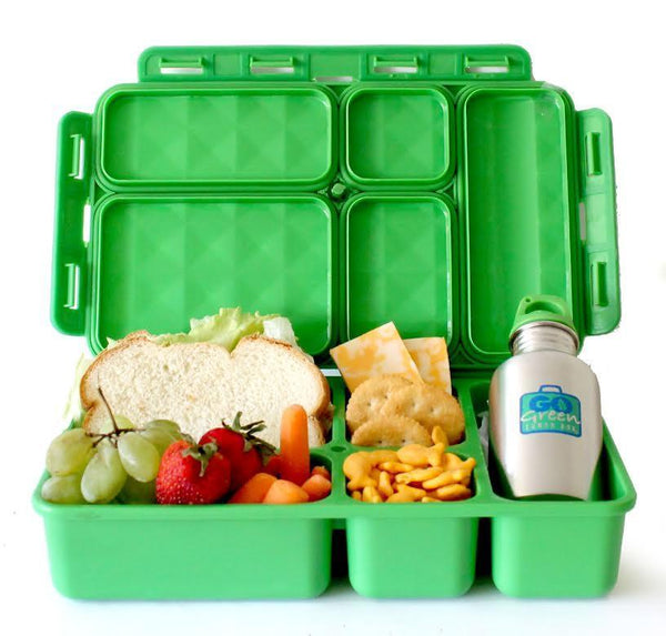 Go Green Lunch Box and Drink Bottle Only - Green