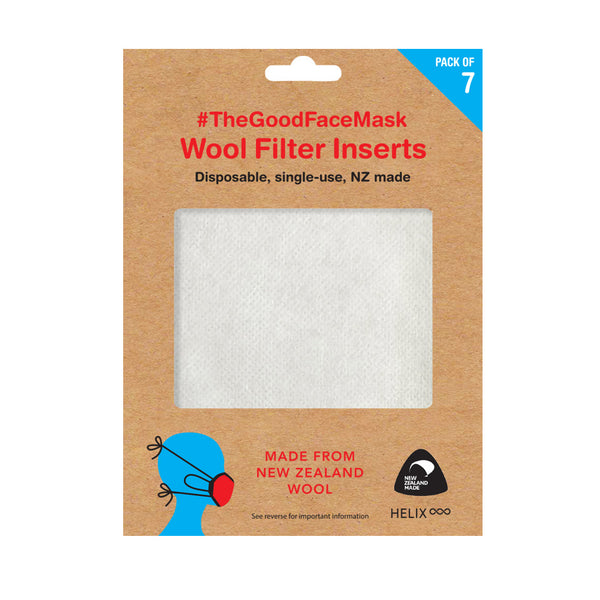 wool filter Inserts for facemasks - NZ made