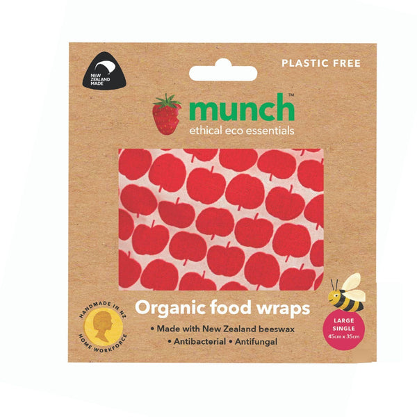 beeswax food wraps - apples