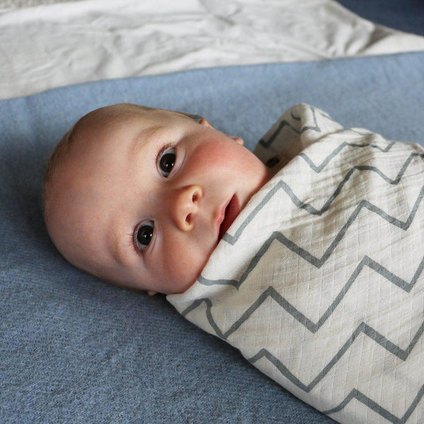 Organic cotton baby swaddle