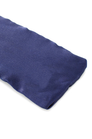 satin blue eye pillow