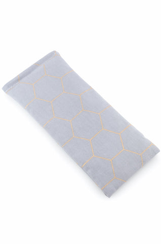 honeycomb grey eye pillow