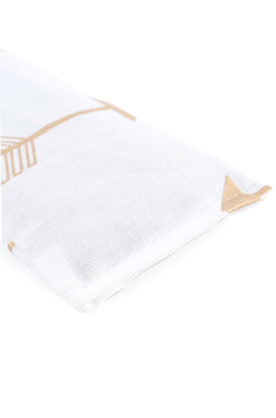 arrow white eye pillow