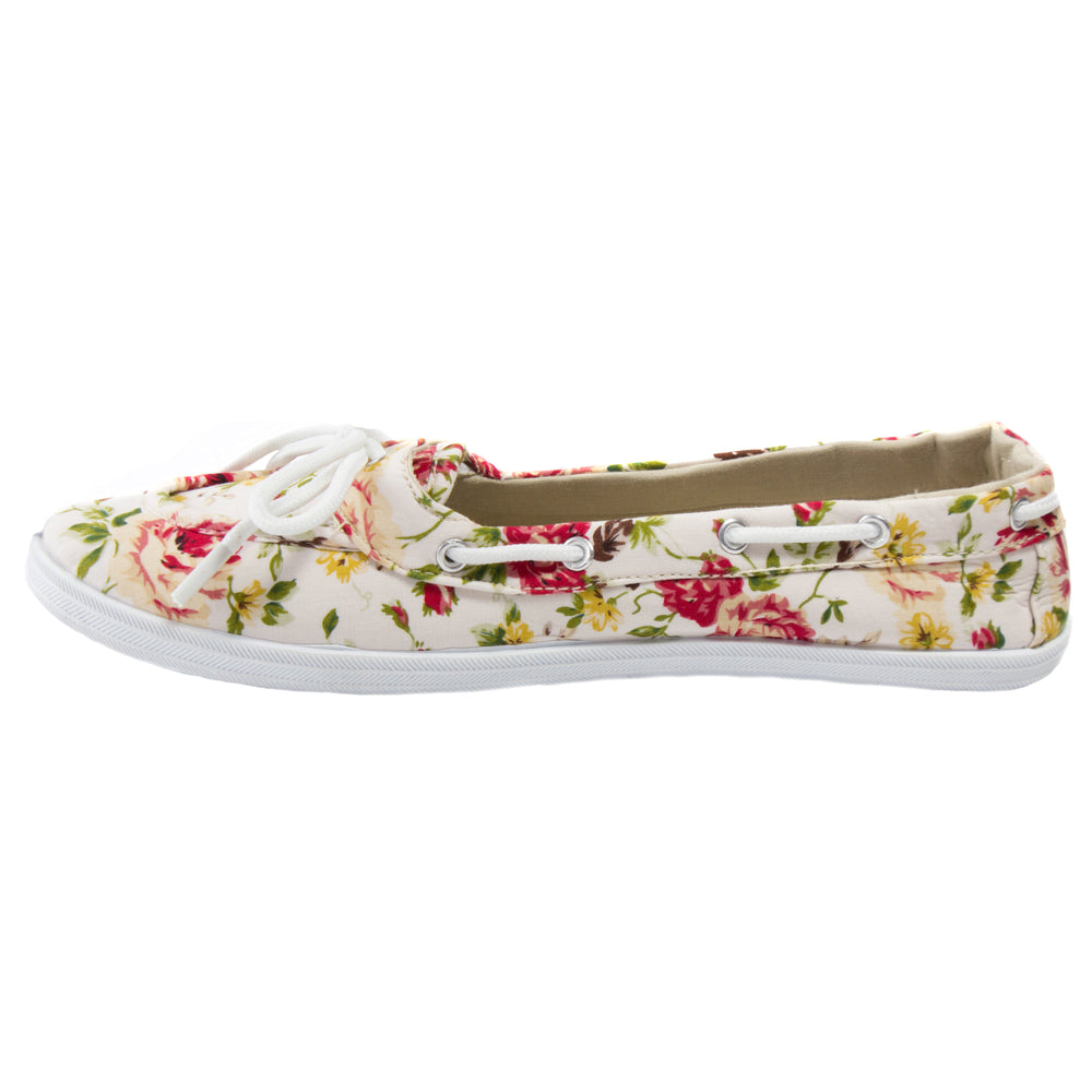Boaty Fleur - Print Boat Shoe - Comfort Trendz - Flats - Blue Suede Shoes NY