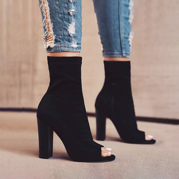 20855b2b05c1 Connie-67 high heel ankle High side zip fashion boots - Blue Suede Shoes NY