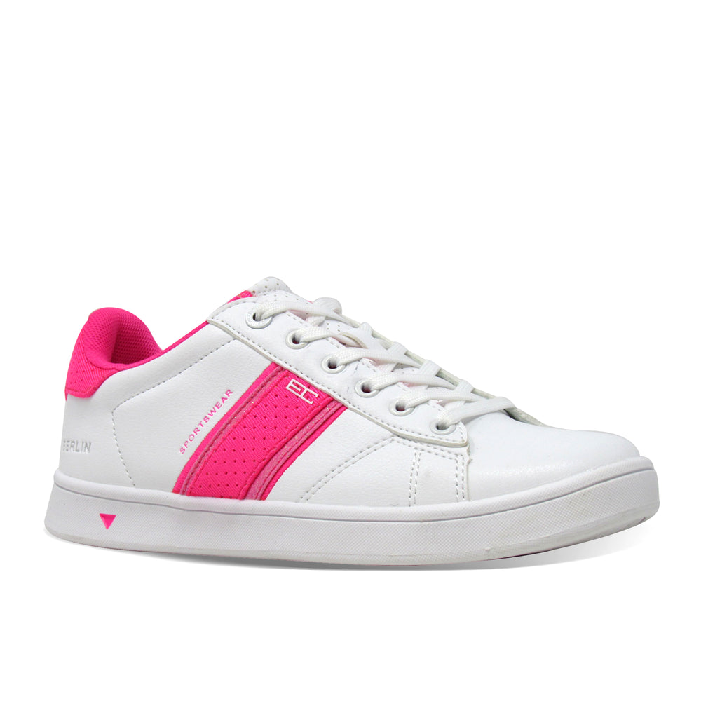 Berlin Pvc Pu Glitter Lycra - Lace up Sneaker
