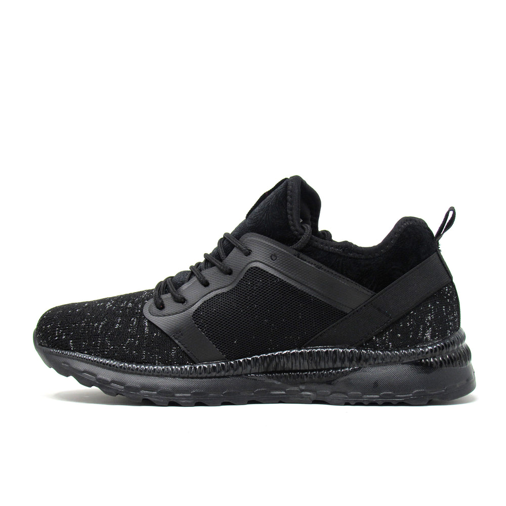 Enrico Coveri Women Italian Fashion Evelyn Fly Knit Sneakers Shoes Black