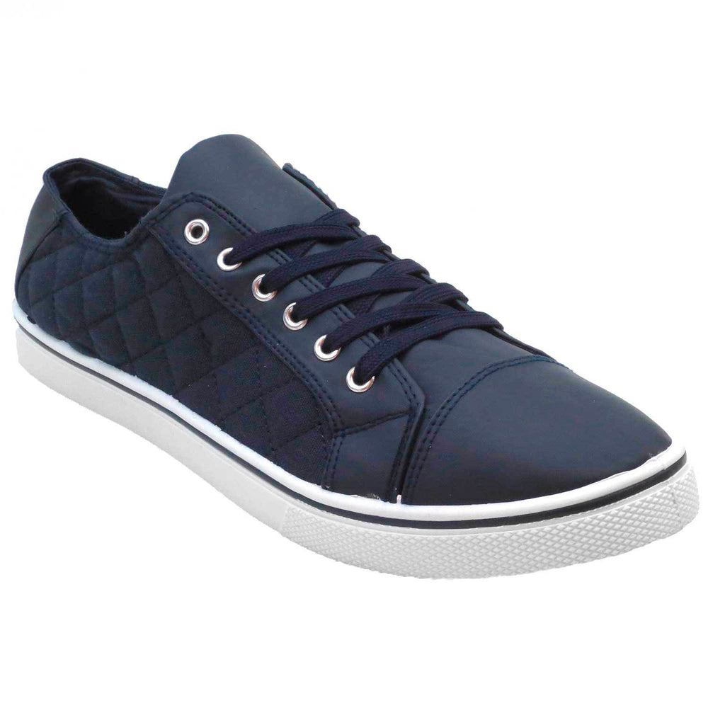 M Travis – Canvas Quilted Sneakers - Blue Suede Shoes NY - Sneakers - Blue Suede Shoes NY