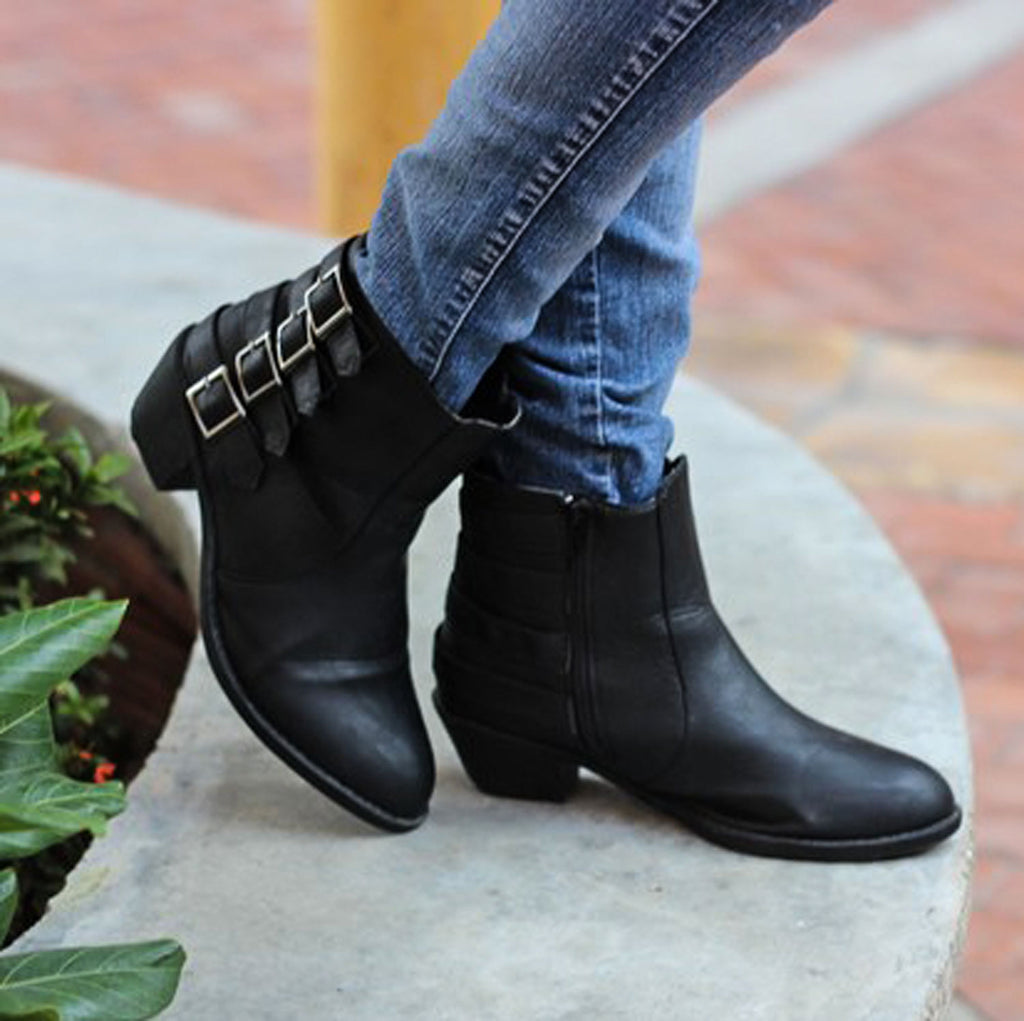 Jent - Buckle Booties - Blue Suede Shoes NY - Boots - Blue Suede Shoes NY