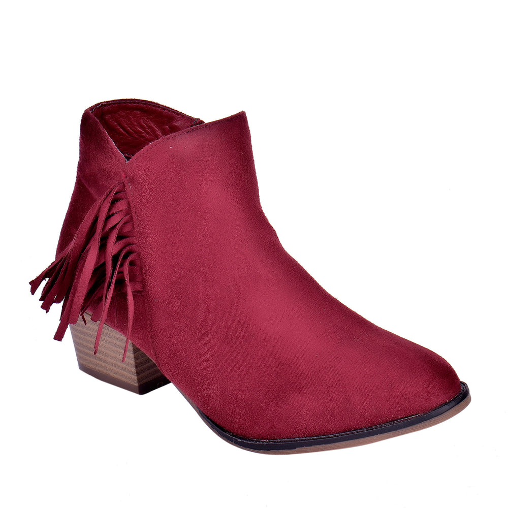Juliet - Ankle Fringe Booties - Blue Suede Shoes NY - Boots - Blue Suede Shoes NY