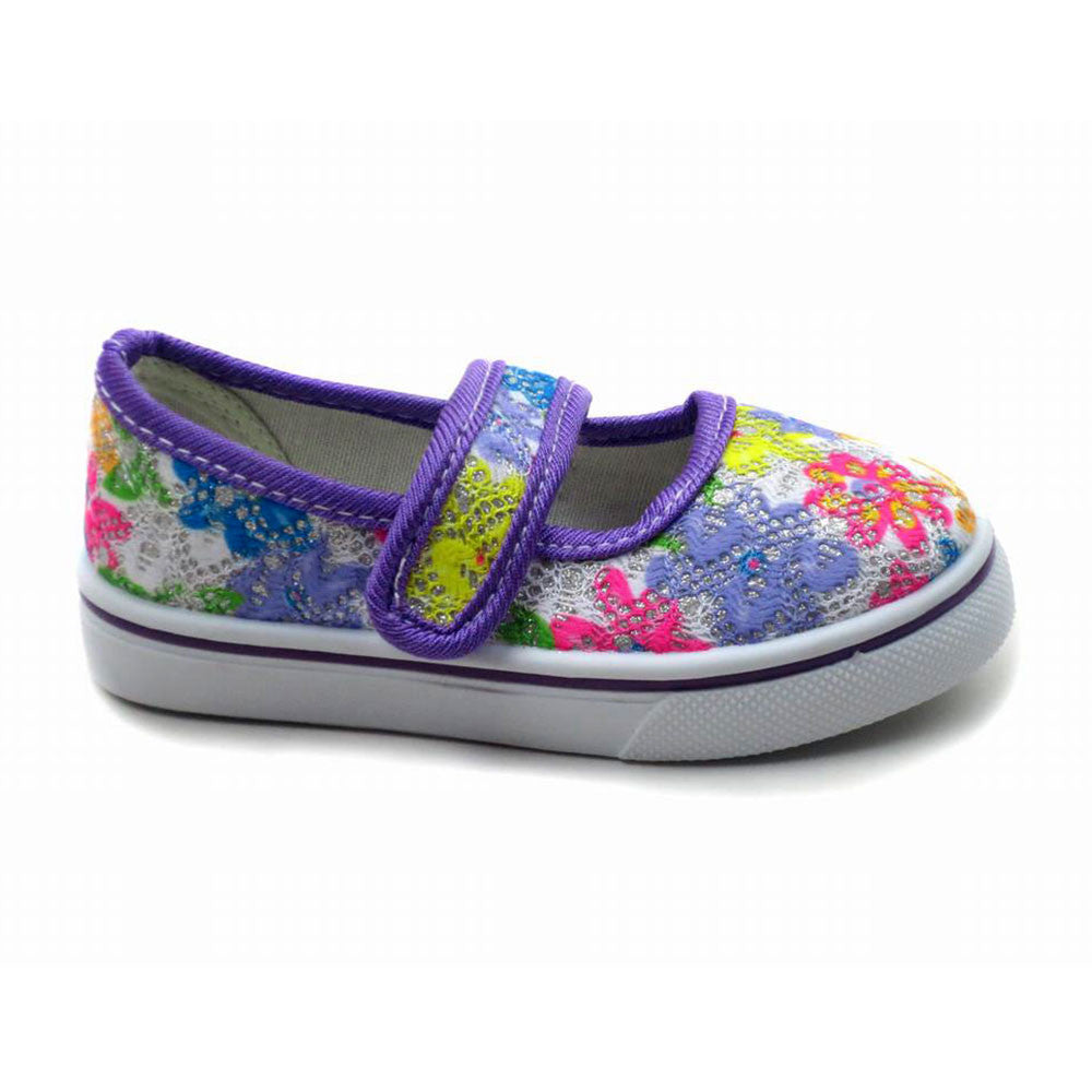 Gardenia 5 - Flower pattern flats - Comfort Trendz - Flats - Blue Suede Shoes NY