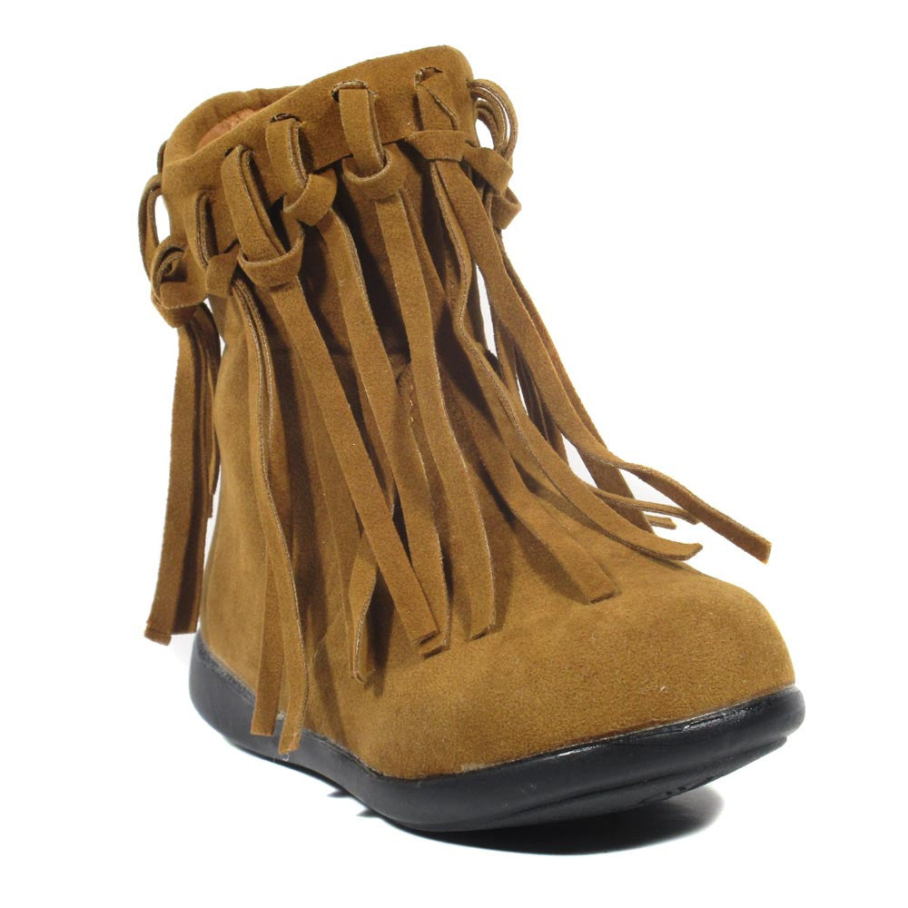 I Selma - Girl's Fringe flat mid-calf Boots - Blue Suede Shoes NY - Boots - Blue Suede Shoes NY