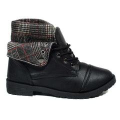 Mellie Plaid - Military Boots