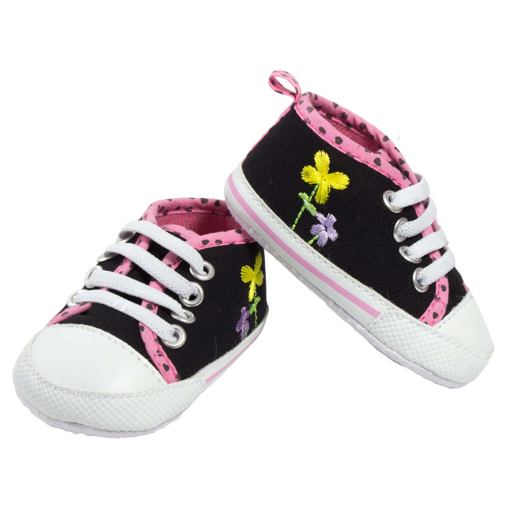 P Synth - Embroidered Flower Prewalks Sneakers - Blue Suede Shoes NY - PREWALK - Blue Suede Shoes NY