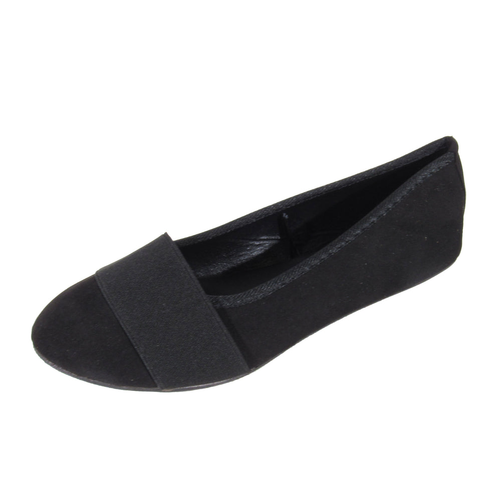 TIPROUND MF Slip On Round Toe Ballerina - Comfort Trendz - Flats - Blue Suede Shoes NY