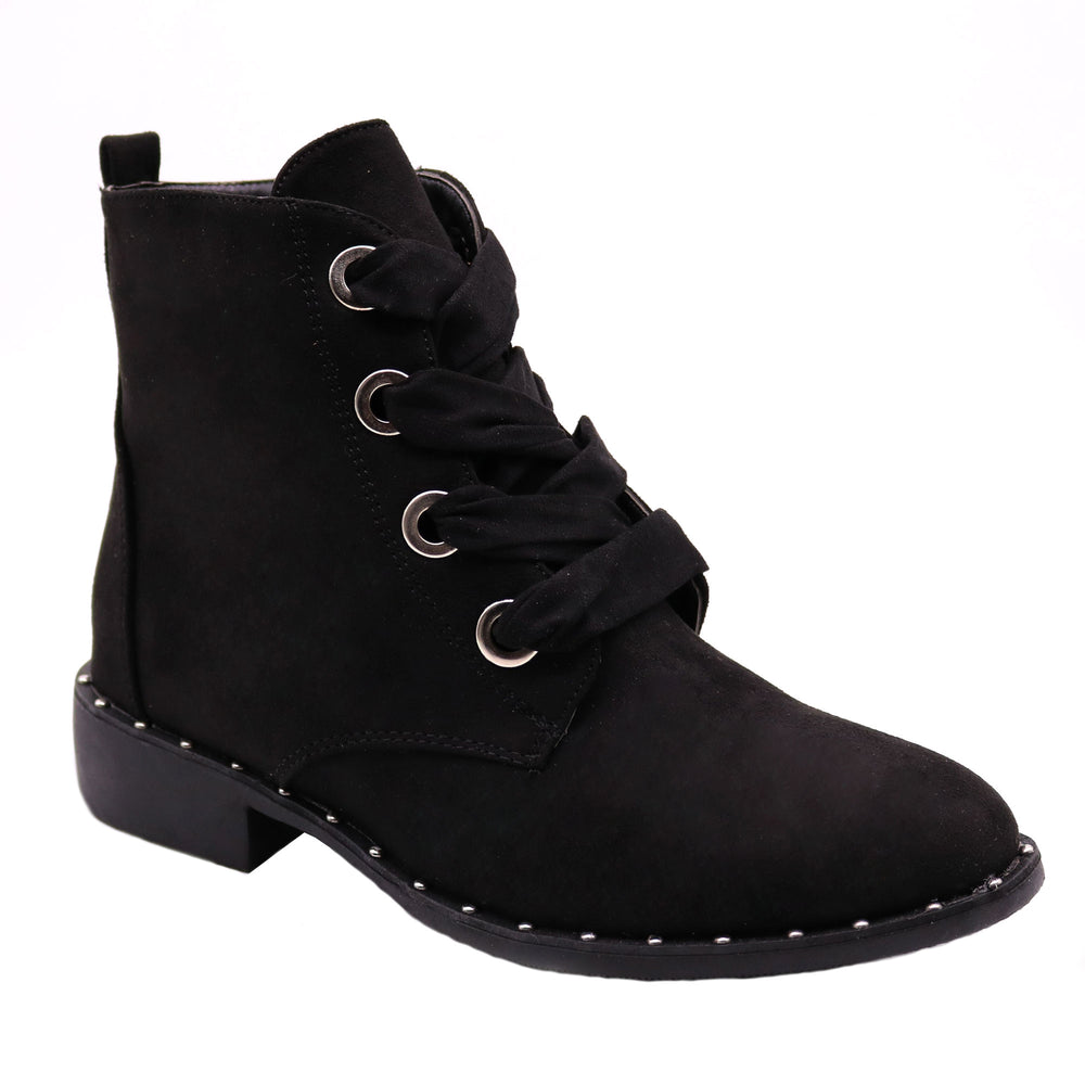 Vivi-3 Studded Ankle-High Boots - Blue Suede Shoes NY - Boots - Blue Suede Shoes NY