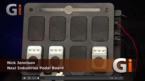 Review video Guitar Interactive Magazine - NEXI Pedal board