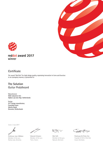RED Dot Award Certificate