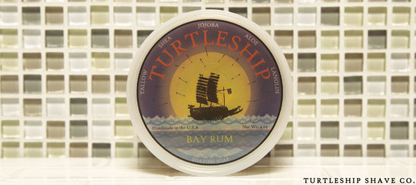Turtleship shave co Quality Shaving Soap Bay Rum