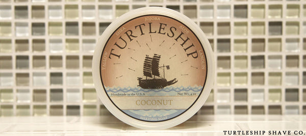 Turtleship shave co Quality Shaving Soap Coconut
