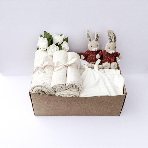 Paddy the Hare Large Baby Gift Box for Twins