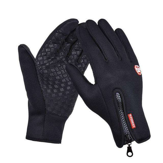 Outdoor Sports Hiking Winter Bicycle Bike Cycling Gloves For Men Women Windstopper Simulated Leather Soft  Warm Gloves,UrbanLifeShop