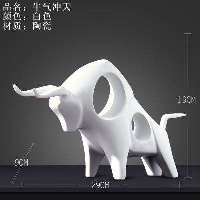 black white Ceramic creative cow Bull home decor crafts room decoration handicraft Cattle porcelain animal figurines decorations,UrbanLifeShop