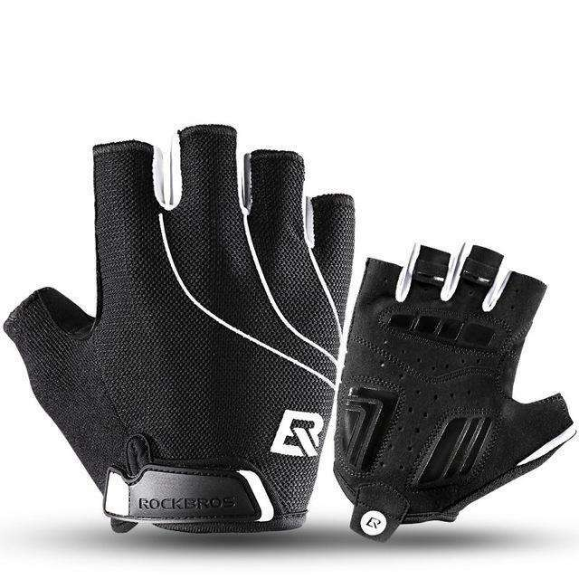 ROCKBROS Cycling Bike Half Finger Gloves Shockproof Breathable MTB Mountain Bicycle Gloves Men Women Sports Cycling Clothings,UrbanLifeShop