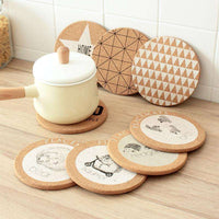 Lot Heat Resistant Wood Round Shape Cork Coaster Tea Drink Wine Coffee Cup Mat Pad Table Decor,UrbanLifeShop