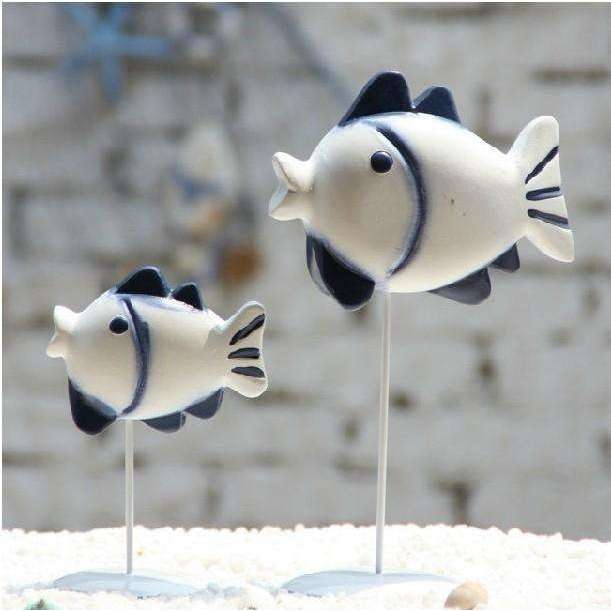two-piece nordic style kiss fish set wood carving craft furnishing articles home decoration creative figurines gifts,UrbanLifeShop