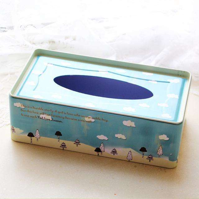 Korean style rectangle tissue box tin box toilet/room removable tissue case table decoration and accessories,UrbanLifeShop