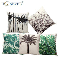 Tropic Tree Cushion Cover Cotton Linen Throw Pillow Cover Cushion Case Sofa Bed Decorative Pillows,UrbanLifeShop