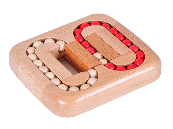 Classic IQ Wood Game Mind Brain Teaser Beads Wooden Puzzle for Adults Children - UrbanLifeShop
